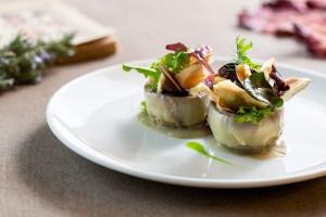 Il Carciofo Sottosopra, piatto vegetariano del Ristorante Villa Giulia di Fano