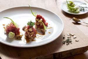Emulsione di Marchigiana, piatto del ristorante Villa Giulia di Fano